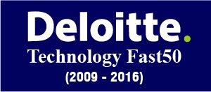 Delloitte - Technology Fast 50 Winner (2009-2015)