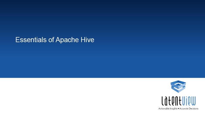 apache hive essentials 1