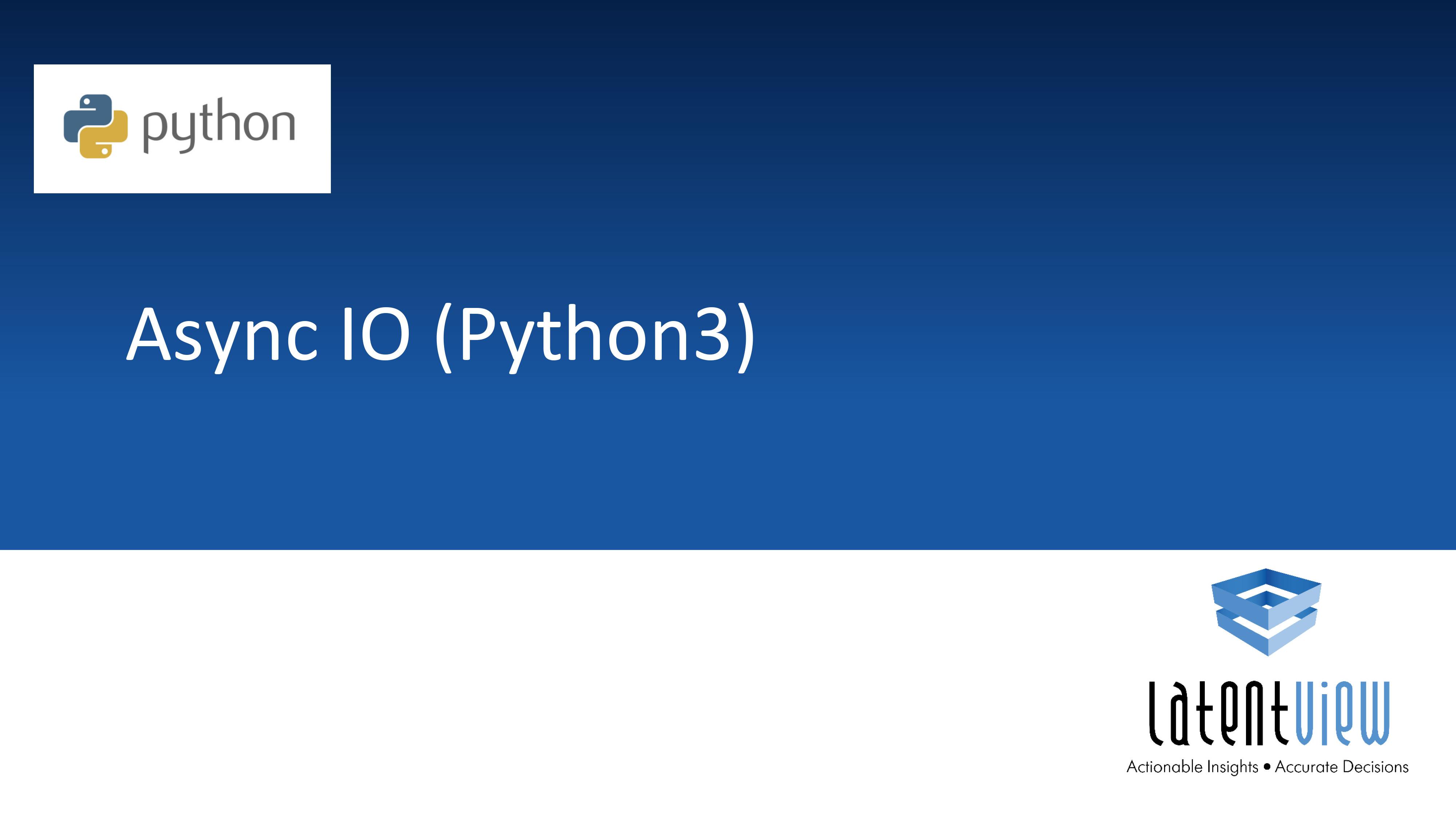 asyncio python 1