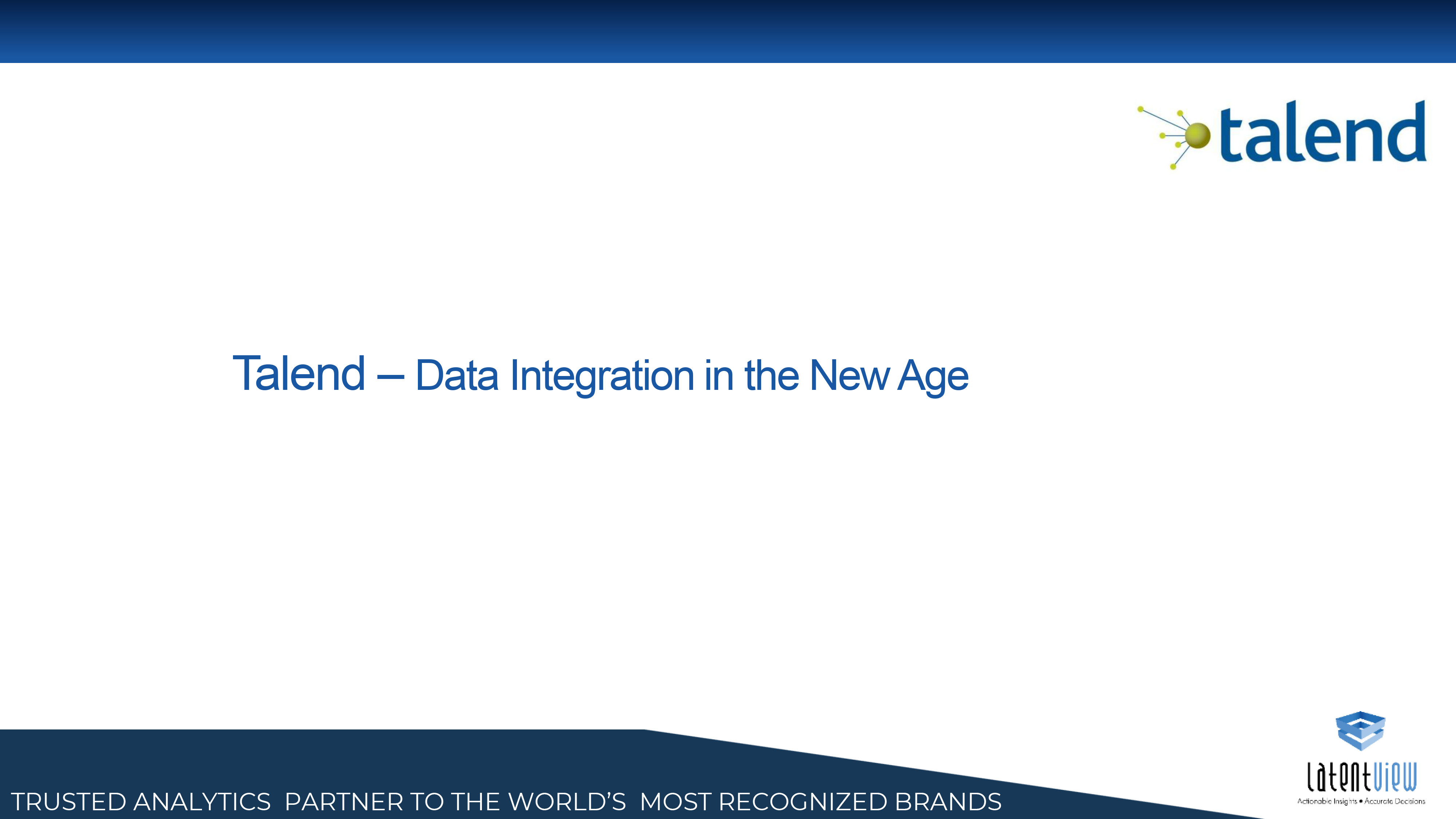 data integration in the new age talend 1