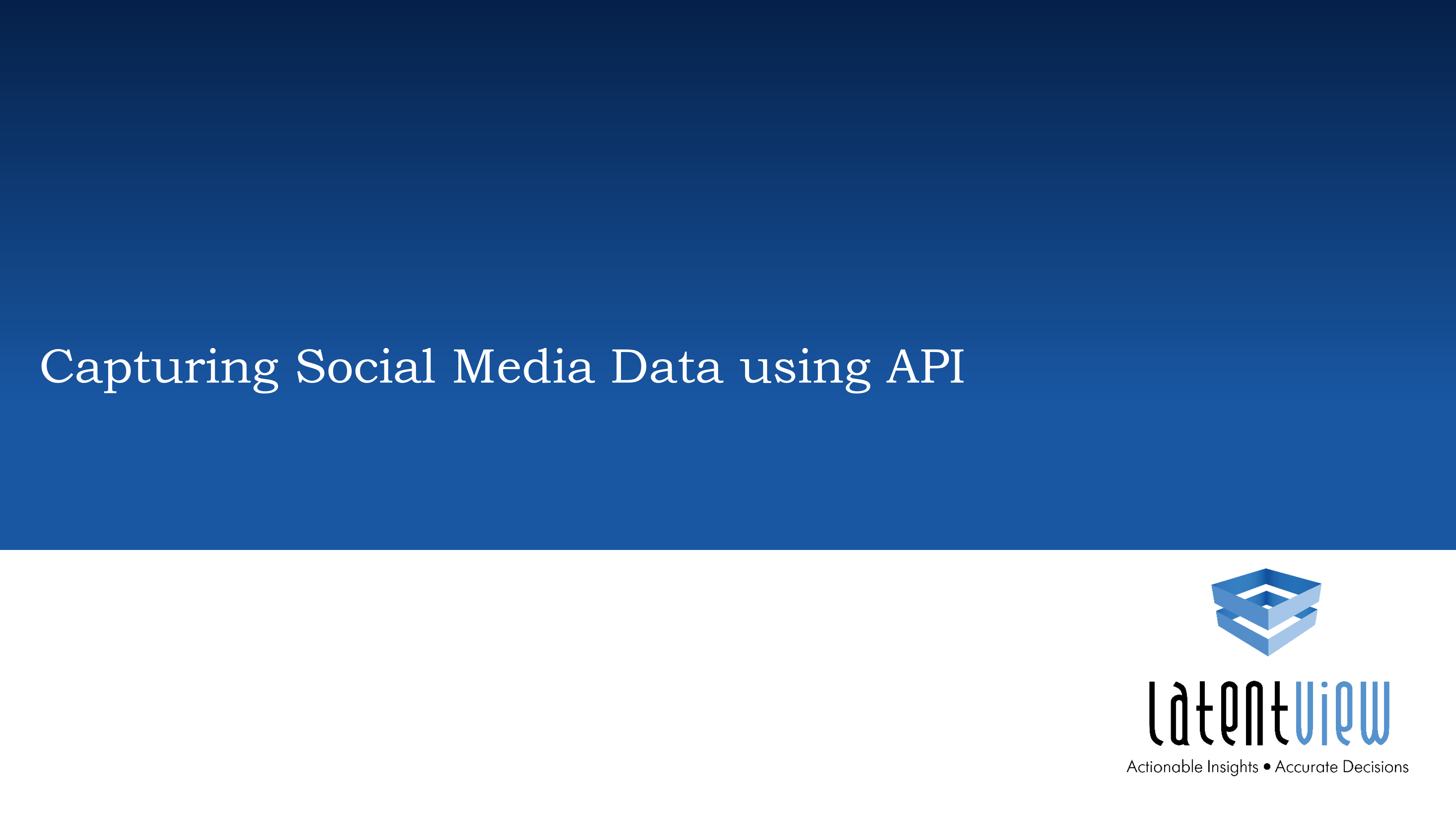 capturing social data using api 1
