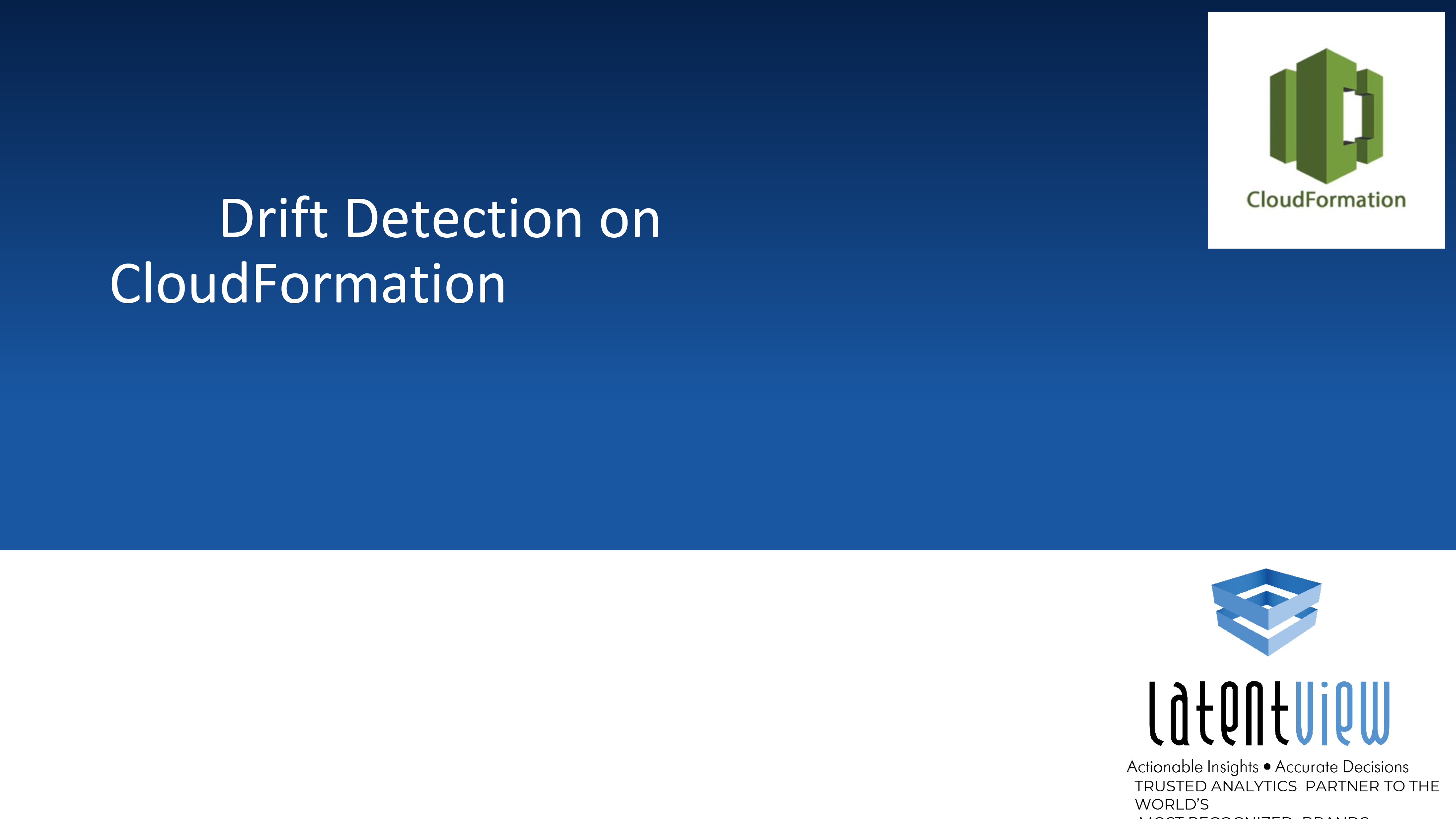 Drift Detection on Cloud Formation 1
