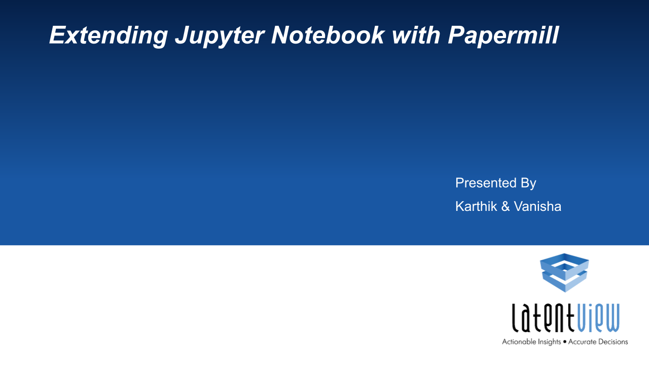 extending jupyter notebook with papermill 1