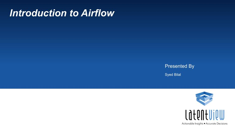 introduction to airflow 1